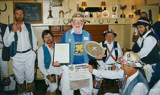 In May 1997, in a joint celebration with our friends from Oxford City Morris Men, Joe Marns was elected to a specially created position of Life President.